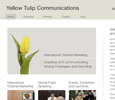 Yellow Tulip Communications Website Design