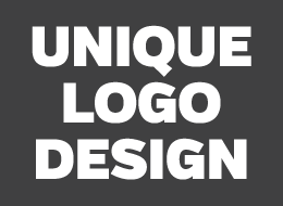 Unique logo design through type treatments