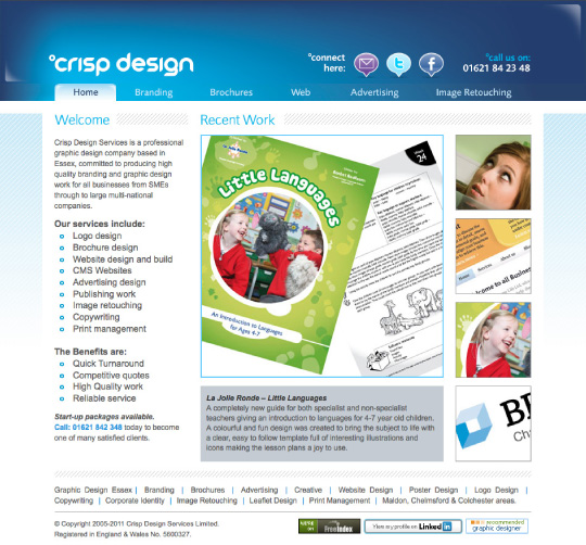 Website Design 2009 home