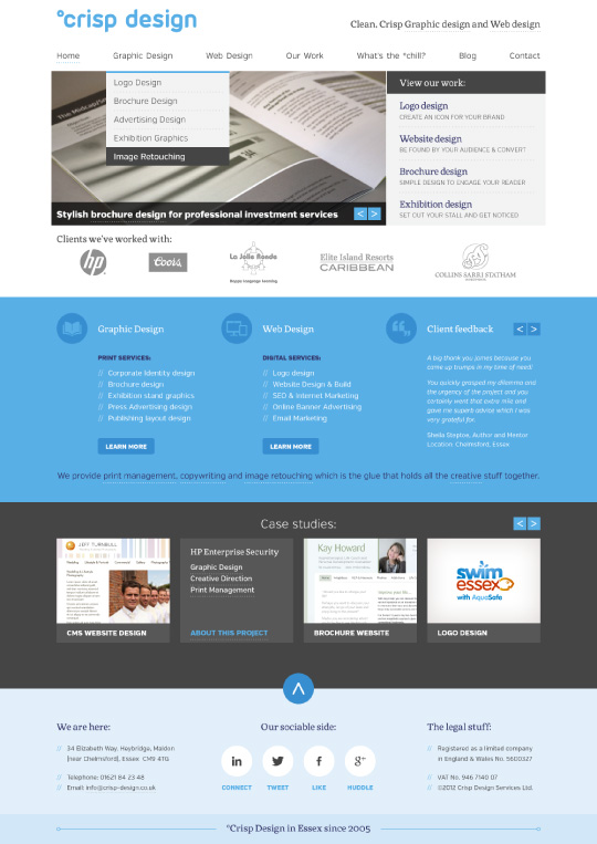 Website Design 2012 home