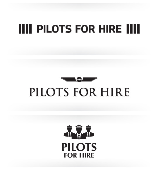 Pilot logo design options