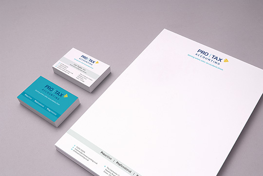 accountant stationery design