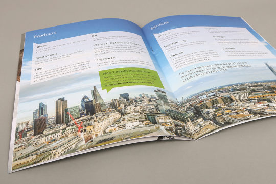 Ceative brochure design spread