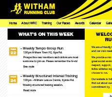 Witham Running Club Website