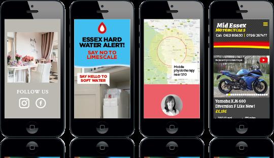 Bespoke website design - mobile examples