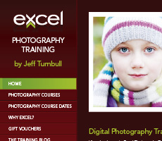 Excel Photo Training Website Design
