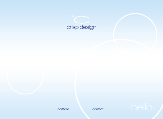 Website Design home - 2005