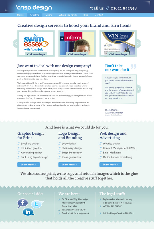 Website Design 2011 content