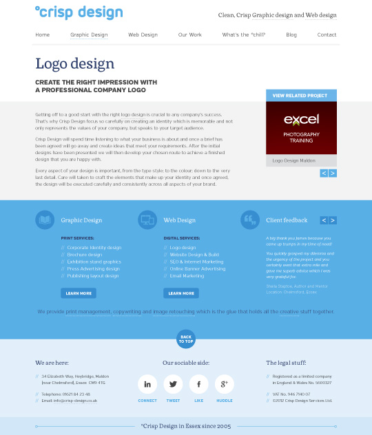 Website Design 2012 content