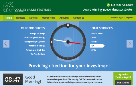 CSS Investments Website Design