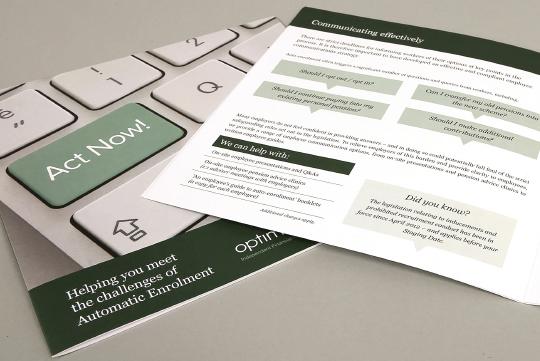 Auto Enrolment brochure design