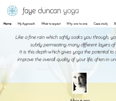 Yoga Teacher Website Design