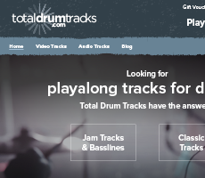 Total Drum Tracks website