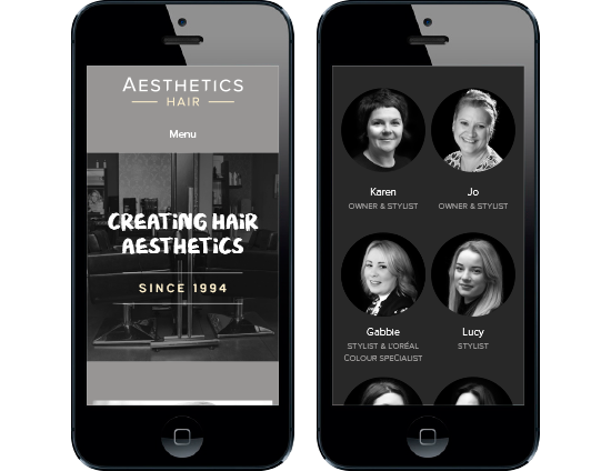 Hair Salon mobile website