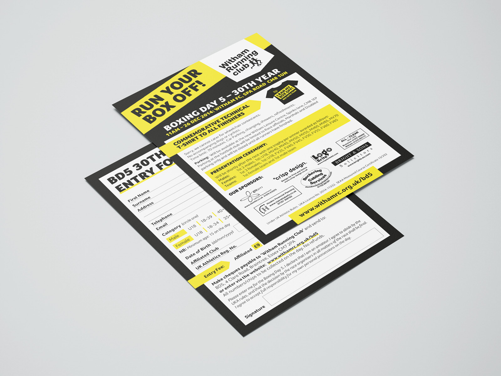 Race Leaflet design
