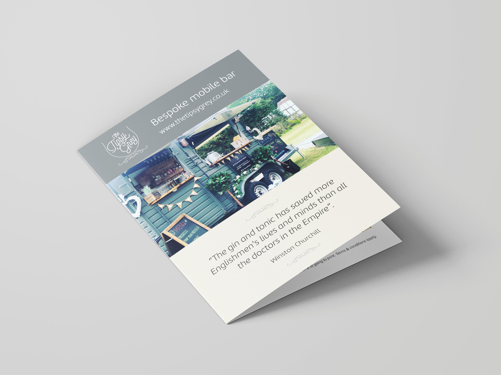 Folded leaflet design
