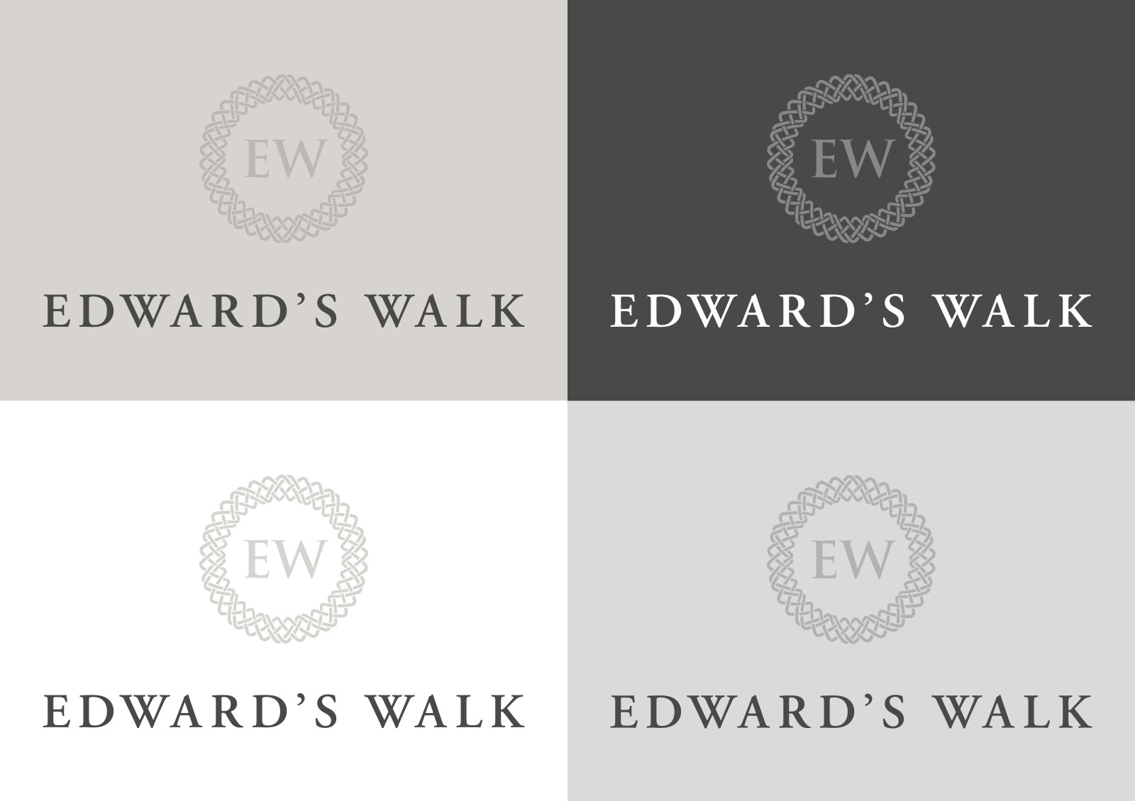 Edward's walk logo design