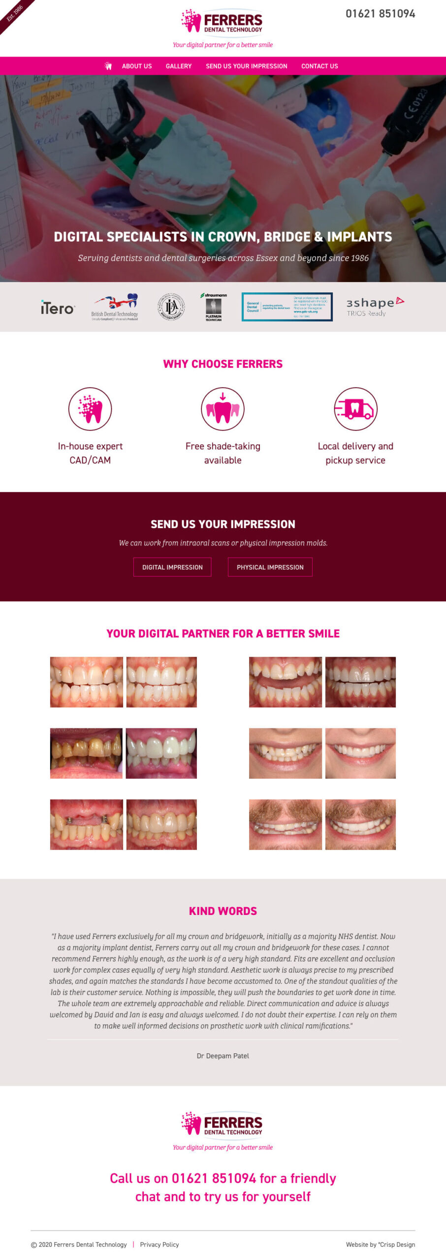 Dentist Website Maldon