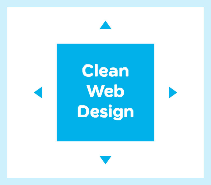 clean web design – clean, crisp design gets a better response